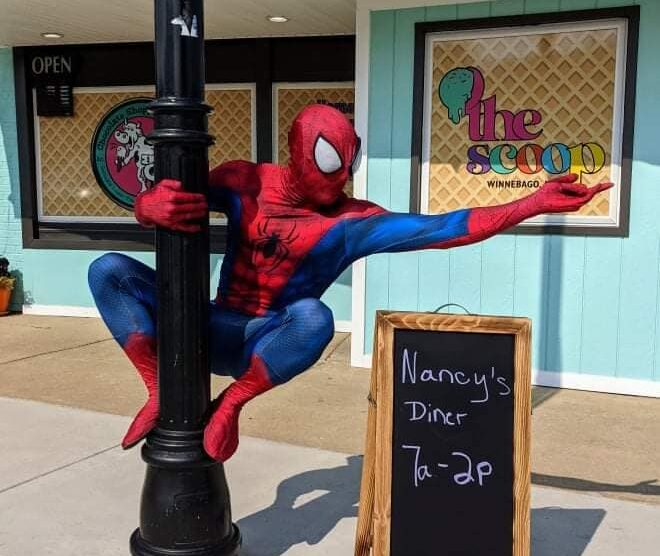 Spidey Went Out To Eat!